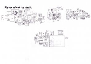 Click to enlarge: Difficult Drawing III: In-situ exhibition inventory