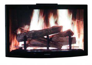 Click to enlarge: TV-Fireplace