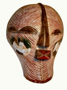 Click to enlarge: ExSouvenir: Olympia on African Mask
